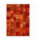 Vintage patchwork flicken teppich farbe orange (430x300cm)