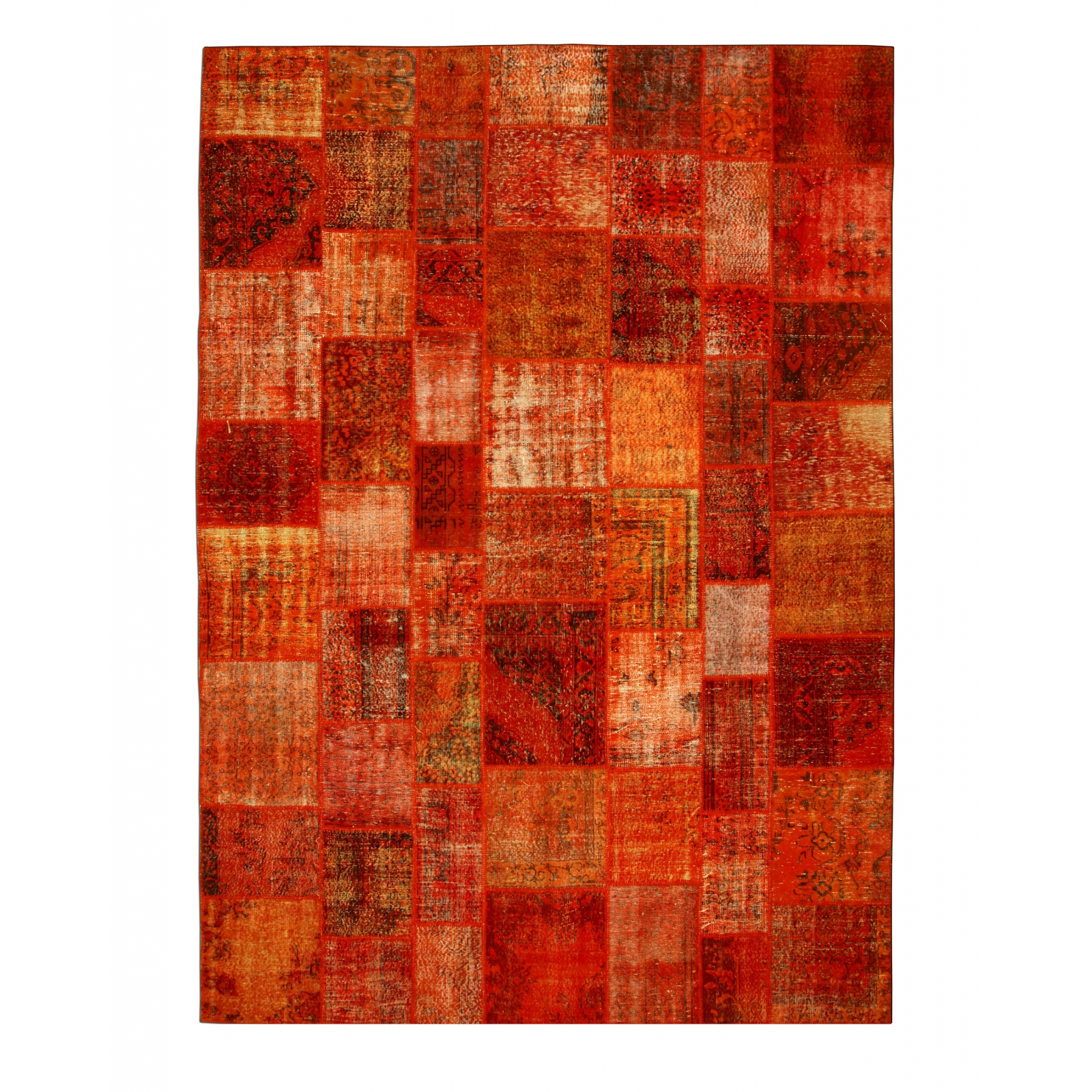 orange vintage patchwork flicken teppich 430x300cm. Black Bedroom Furniture Sets. Home Design Ideas