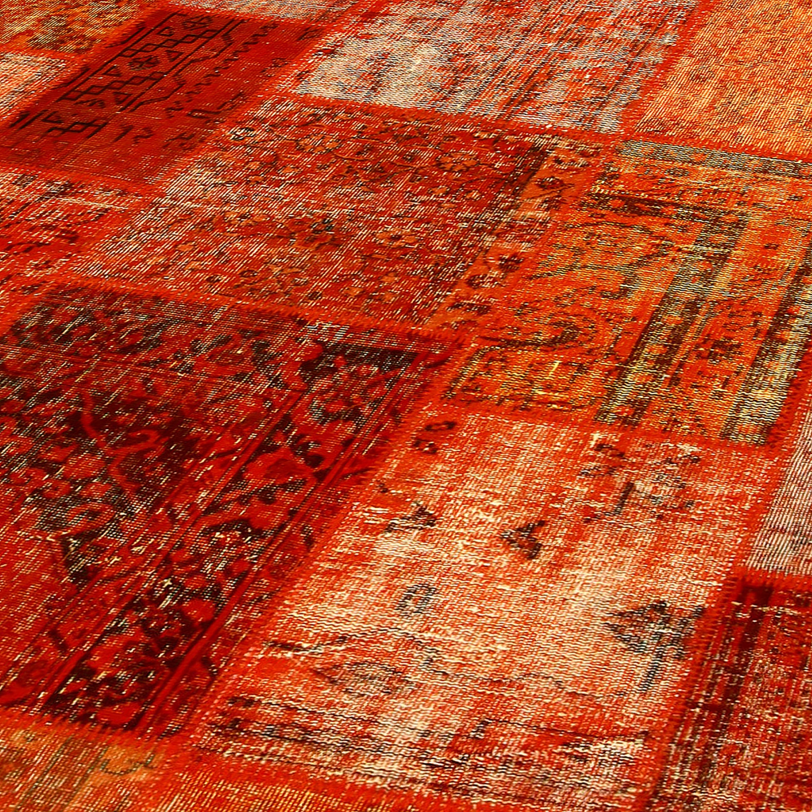 Teppich orange  Orange vintage patchwork flicken teppich (430x300cm)