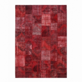 Vintage patchwork rug color red (430x303cm)