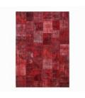 Vintage alfombra retazos color rojo (430x303cm)