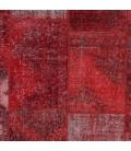 Vintage patchwork rug color red (430x303cm)