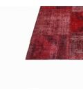 Vintage patchwork flicken teppich farbe rot (430x303cm)