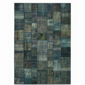 Vintage alfombra retazos color indigo (431x300cm)
