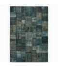 Vintage patchwork rug color indigo (431x300cm)