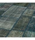 Vintage patchwork flicken teppich farbe indigo (431x300cm)
