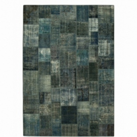 Vintage patchwork rug kleur indigo (433x300cm)