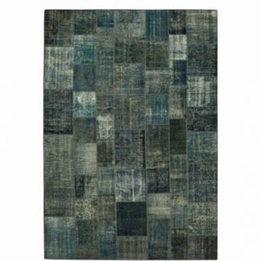 Vintage patchwork rug color indigo (433x300cm)