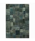 Vintage tapis de patchwork couleur indigo (433x300cm)