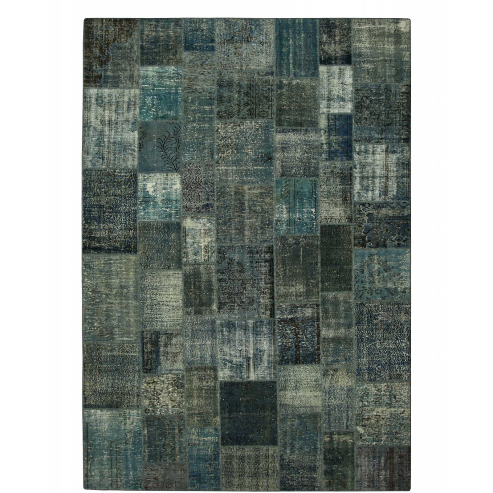 indigo vintage tapis de patchwork 433x300cm. Black Bedroom Furniture Sets. Home Design Ideas