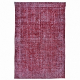 Vintage recoloured rug colore rosso (311x193cm)