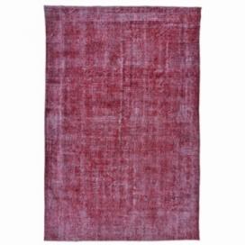 Vintage tapis recolorés couleur rouge (311x193cm)