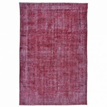 Vintage alfombra recolored color rojo (311x193cm)