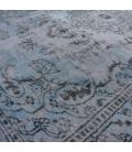 Vintage alfombra recolored color azul oscuro (287x164cm)