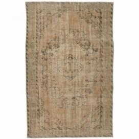Vintage recoloured rug cor lichtbruin (290x178cm)