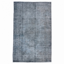 Vintage recoloured rug kleur donkergrijsblauw (263x163cm)