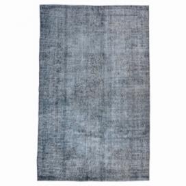 Vintage tapis recolorés couleur donkergrijsblauw (263x163cm)