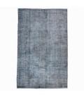 Vintage recoloured rug color donkergrijsblauw (263x163cm)