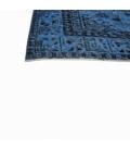 Vintage recoloured rug color dark blue (243x147cm)