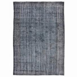 Vintage umgefärbt teppich farbe grijsblauw (233x152cm)