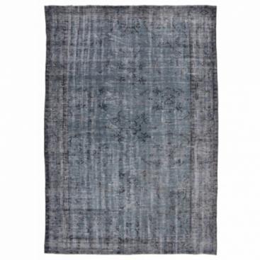 Vintage recoloured rug color grijsblauw (233x152cm)