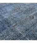 Vintage alfombra recolored color grijsblauw (233x152cm)