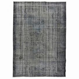 Vintage tapis recolorés couleur brun gris (234x166cm)