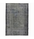 Vintage alfombra recolored color marrón gris (234x166cm)