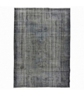 Vintage recoloured rug color gray brown (234x166cm)