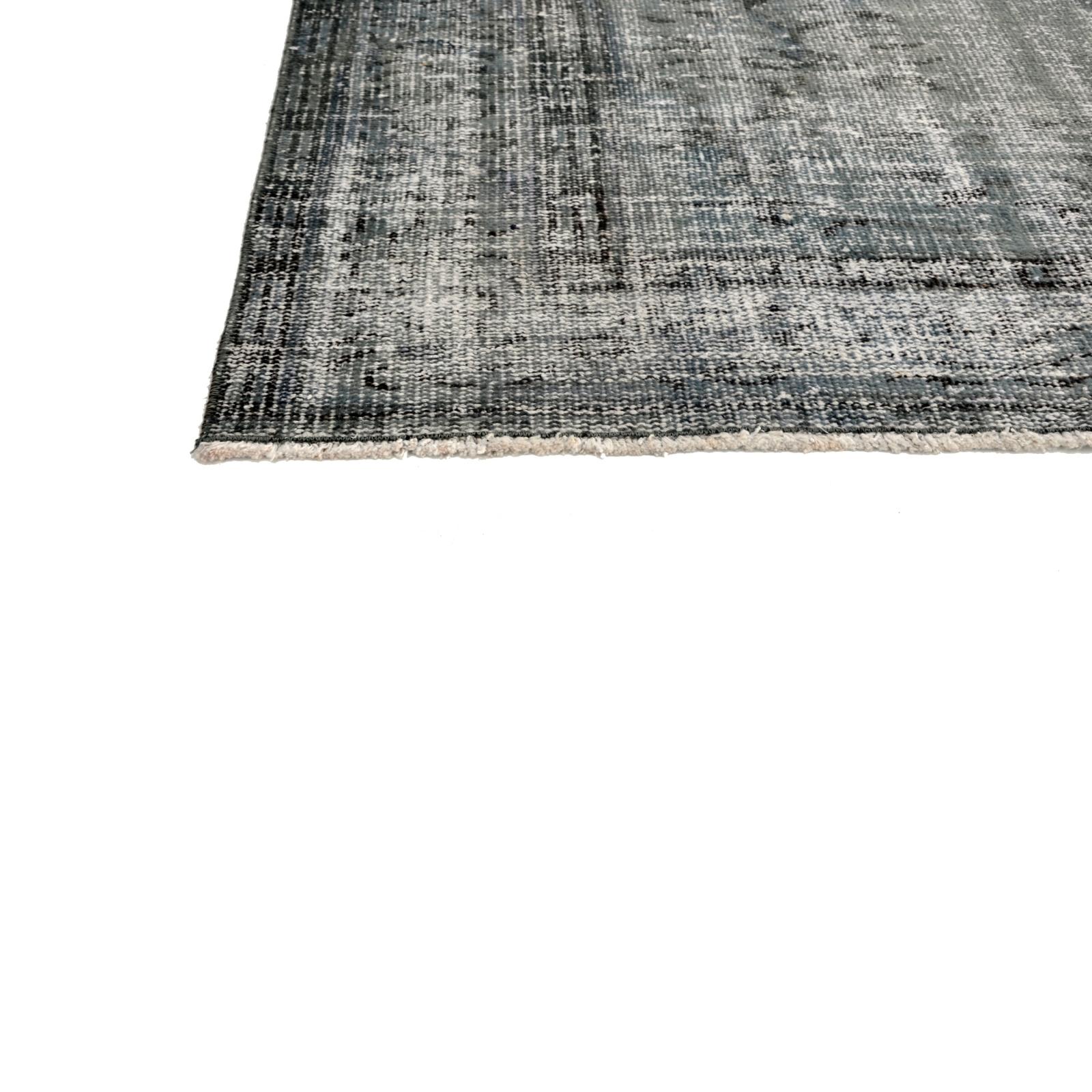 Grau Braun Vintage Umgefarbt Teppich 234x166cm