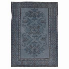 Vintage umgefärbt teppich farbe grijsblauw (234x172cm)