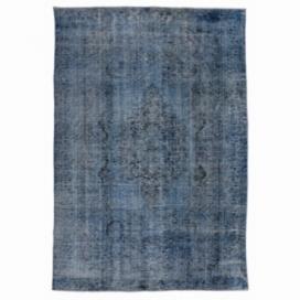 Vintage tapis recolorés couleur gris (305x185cm)