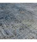 Vintage recoloured rug color grey (305x185cm)