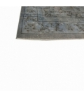 Vintage recoloured rug color grey (305x185cm)