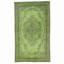 Vintage recoloured rug colore verde (165x278cm)