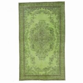 Vintage tapis recolorés couleur vert (165x278cm)