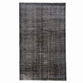 Vintage tapis recolorés couleur black (164x275cm)