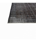 Vintage recoloured rug color black (164x275cm)