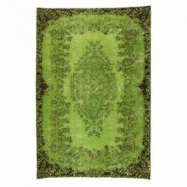 Vintage recoloured rug colore verde (165x244cm)