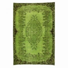 Vintage tapis recolorés couleur vert (165x244cm)