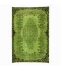 Vintage alfombra recolored color verde (165x244cm)
