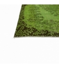 Vintage recoloured rug color green (165x244cm)