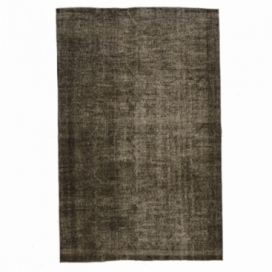 Vintage recoloured rug color brown (170x295cm)