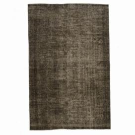 Vintage tapis recolorés couleur marron (170x295cm)