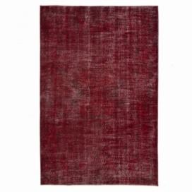 Vintage recoloured rug cor vermelho (166x252cm)