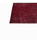 Vintage alfombra recolored color rojo (166x252cm)