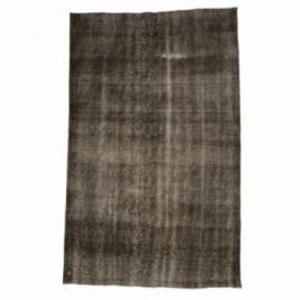 Vintage umgefärbt teppich farbe braun (168x271cm)
