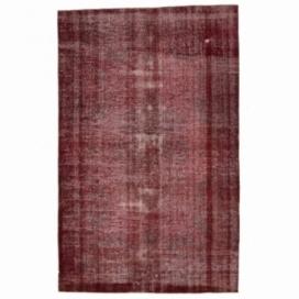 Vintage tapis recolorés couleur rouge (200x313cm)