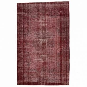 Vintage recoloured rug color red (200x313cm)