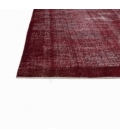 Vintage alfombra recolored color rojo (200x313cm)